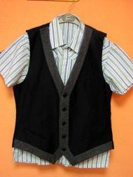 12) рубашка муж. Catbalou (M) 83.000, жилет Antony Morato  138.000