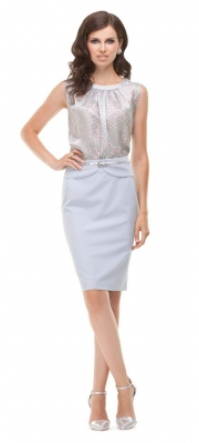 5) - 21083 блузка 42-50 + 4443 юбка 42-50