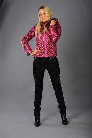 04-Модель 1156, цвета - белый,  серо-бежевый,  розовый , состав ткани - 100% ПЭ, утеплитель – синтепон 60,  размер – 42-48
