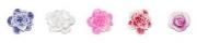 15) резиновые цветы для декора на ногтях