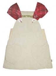 Сарафан для девочек на широких бретелях с двумя накладными кармашками-сердечками и застежкой на пуговки-цветочки. 62.350 руб.