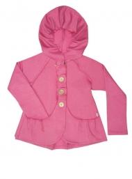 Красивая куртка (футр) с кармашками и капюшоном для девочек. Оригинальный декор в виде розы, качественная фурнитура - Ваша малышка будет неотразима.