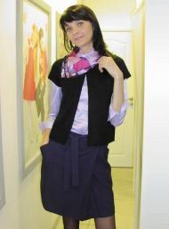 Юбка 129.000 (+серый), блуза 119.000, жакет 139.000 (бежевый, серый), шарф шелковый 59.000