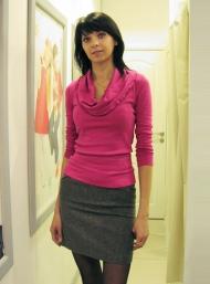 Джемпер 69.000 (бирюзовый, серый), юбка 99.000