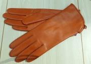 1) мод. 417р. Перчатки женские из кожи овчина на полушерстяной подкладке, размерный ряд 17, 19, 20