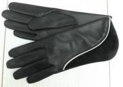 3) мод. 419р. Перчатки женские из кожи козлина на полушерстяной подкладке, размерный ряд 17, 19, 20