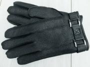10) мод. 430. Перчатки мужские из кожи оленя на чистошерстяной подкладке, размерный ряд  22, 23, 24, 25