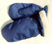 12) мод. 1263. Рукавицы детские материал: тафета,  на подкладке из натурального меха, размерный ряд  14, 15, 16