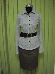 4. блуза с поясом 78.000 руб., юбка 120.000 руб.