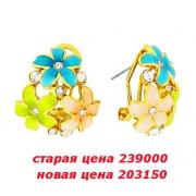 04) серьги  с кристаллами Сваровски