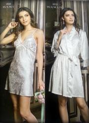 05)  Сорочка и халат-пеньюар.Цвет-молочный и розовый.Цена сорочка-527 000. Халат-пеньюар- 739 500