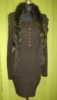 13) 145000 руб. платье графитового цвета