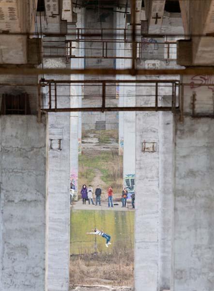 Роупджампинг на Румлевском мосту