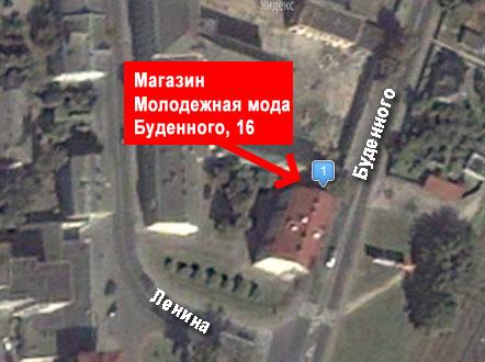 Фрагмент карты maps.yandex.ru
