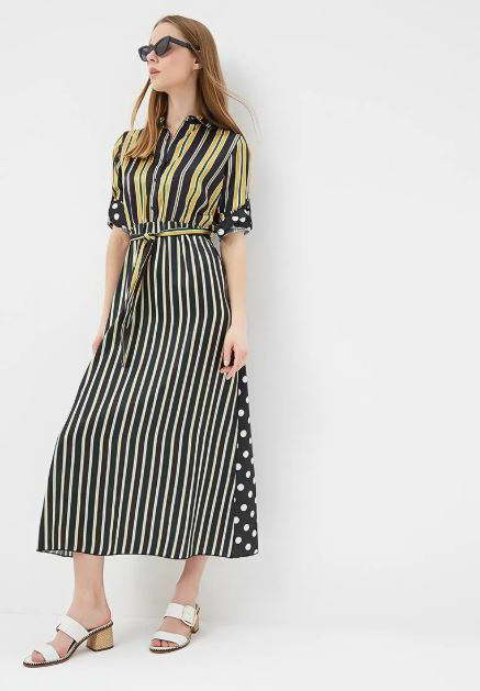 модное платье макси на ламода