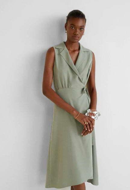 платье с запахом на ламода
