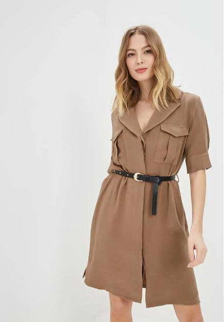 Платье-рубашка в стиле сафари на ламода ринасцименто