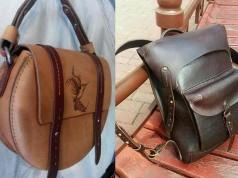 авторсие дизайнерские сумки из кожи