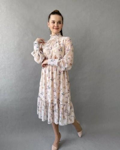 7) шифоновое платье 42-48-130 руб